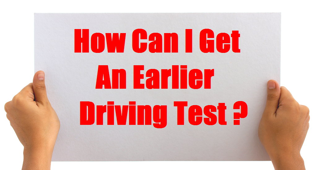 how can i get an earlier driving test picture